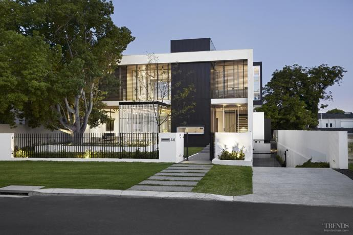New home with glass walls and indoor-outdoor flow