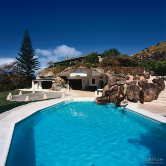 2. This pool, the like the home, fits in with the surrounding landscape. Image: 2