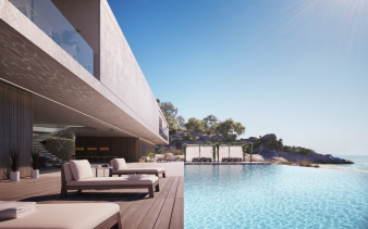 1. The pool next to this superhouse provides breathtaking views and an al fresco eating area. Image: 1