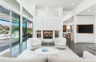 The interior is primarily white with polished concrete floors. Image: 6