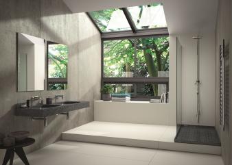 Ambiente baño vivienda -  Lavabo Exclusive Silestone color Zirconium  - Plato ducha Bubbles Silestone color Zirconium - Suelo Dekton co. Image: 14