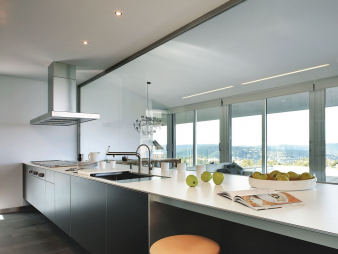 Silestone Quartz Kitchen Cocina Blanco Zeus Extreme. Image: 27