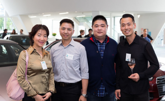 David Hong and guests from Parks Flooring. Image: 32