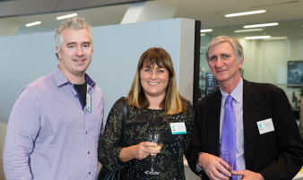 Roy Tebbutt (Strachan Group Architects), Hilary Scully (Architecture Smith + Scully) and  Paul Taylor. Image: 30
