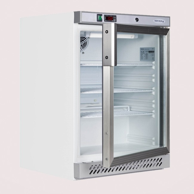 Tefcold UR200G Undercounter Glass Door Fridge 200 Ltr
