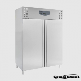 Combisteel 7950.3655: 1200 Ltr Stainless Steel Double Door Freezer. Image: 2