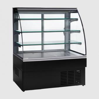 Trimco ZURICH II 120 CHOC Black Chocolate Display Cabinet. Image: 3