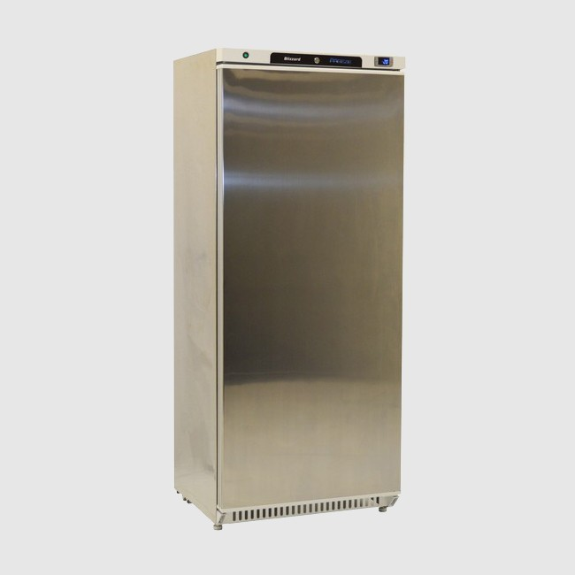 Blizzard L600SS Upright Stainless Steel Freezer- 590 Ltr
