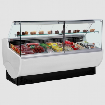 Frilixa VISTA II 10F 1m Wide Flat Glass Serve Over Counter. Image: 2