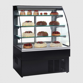 Trimco ZURICH II 100 Black Patisserie Display Cabinet. Image: 3