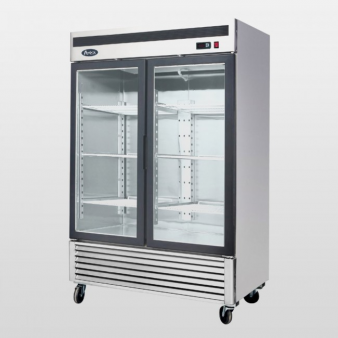 Atosa MCF8703 : 1308 Ltr Upright Double Glass Door Freezer. Image: 4