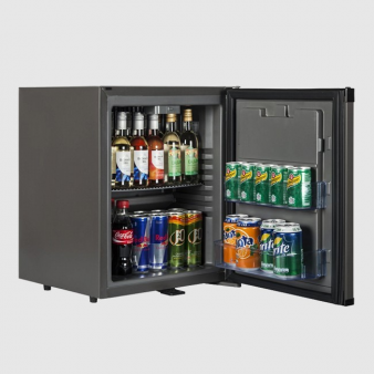 Tefcold TM32 Black Solid Door Minibar Fridge 31 Ltr. Image: 2