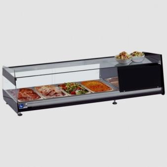Tecfrigo TAPAS 4D Refrigerated Counter Top Display Fridge 4 x 1/3 GN. Image: 1