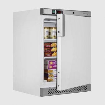 Tefcold UF200 141 Ltr White Undercounter Commercial Freezer. Image: 3