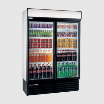Staycold HD1360 Double Glass Door Upright Bottle Cooler 1110 Ltr. Image: 4