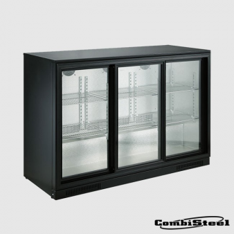 Combisteel 7455.1320 : 298 Ltr Triple Sliding Door Back Bar Cooler. Image: 3