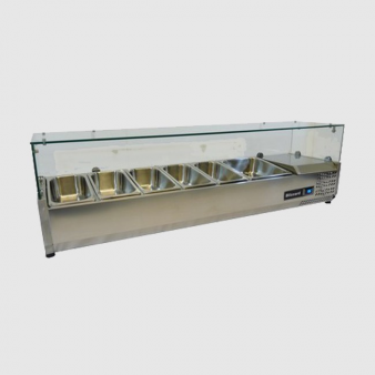 Blizzard TOP1500CR 5 x 1/3 + 1 x 1/2 GN Refrigerated Topping Unit. Image: 3