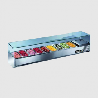 Blizzard TOP2000CR 9 x 1/3 GN Refrigerated Topping Unit. Image: 1