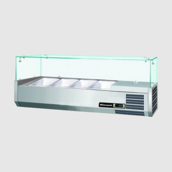 Blizzard TOP1200CR 3 x 1/3 + 1 x 1/2 GN Refrigerated Topping Unit. Image: 2
