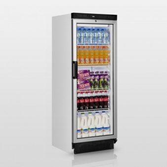 Tefcold FS1280: 290 Ltr Upright Single Glass Door Fridge. Image: 2