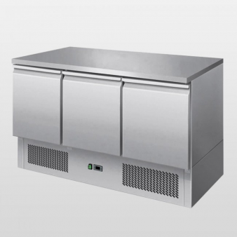 Atosa ESL3851:380 Ltr Triple Door Saladette Counter. Image: 4