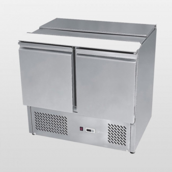 Atosa ESL3800:300 Ltr Double Door Sliding Lid Under Counter Fridge. Image: 1