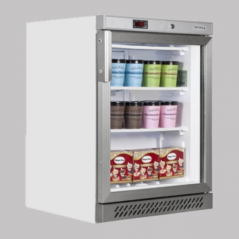 Tefcold UF200G White Undercounter Glass Door Freezer 129 Ltr. Image: 4