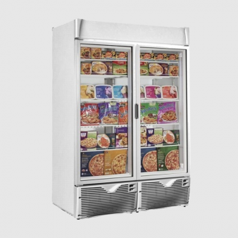Framec EXPO 1100NV ECO Double Glass Door Freezer 1047 Ltr. Image: 3