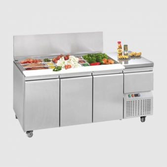 Mercatus L5-1755 SS: 284 Ltr SS Gastronorm Salad Display. Image: 5