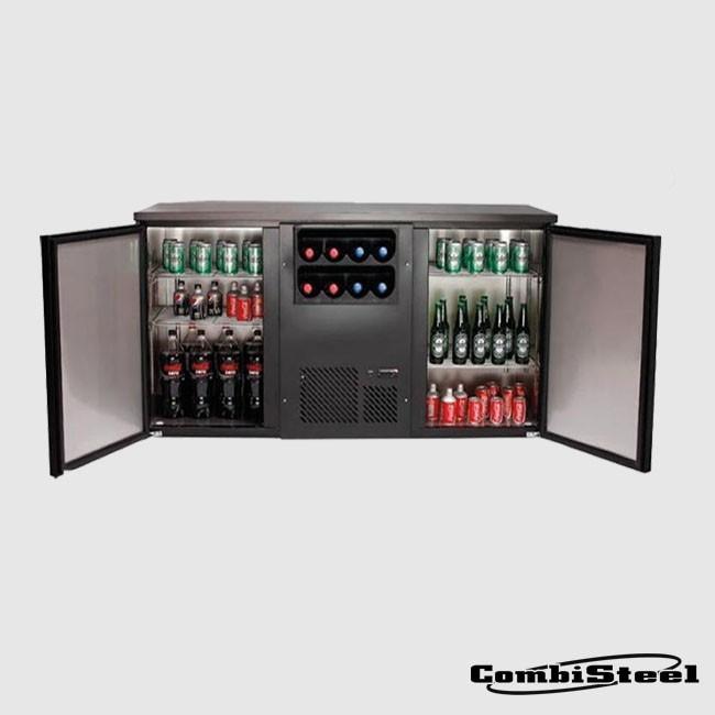 Combisteel 7455.0700 : 376 Ltr Double Door Back Bar Counter