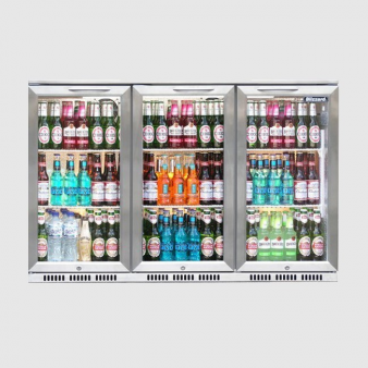 Blizzard BAR3SS 1.3m Wide Stainless Steel Finish Back Bar Chiller. Image: 3