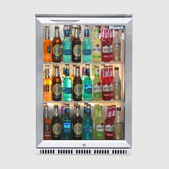 Blizzard BAR1SS: Single Door SS Bottle Cooler 130 Ltr