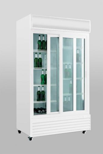 ScanCool 1000 Ltr Double Glass Door Upright Fridge: SD 1001 SL. Image: 2