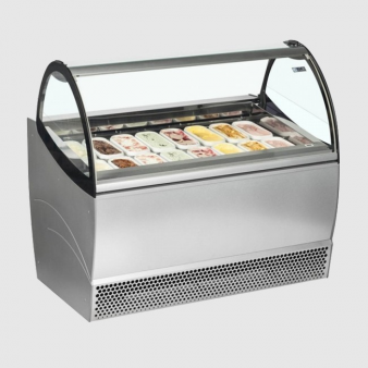 ISA Millennium SP12: 1.15m Wide Ventilated Soft Scoop Ice Cream Display - 12 Pans. Image: 5